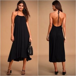 "Lulus ""Summer & Chill"" Casual Halter Midi Dress"